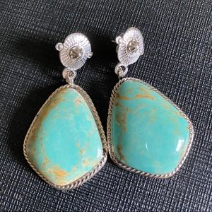 Jewelry - Green Turquoise Drop Earrings